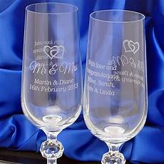 Engraved Chagne Glasses And Flutes Personalised