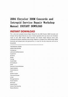 how to download repair manuals 1995 chrysler concorde electronic throttle control 2004 chrysler 300 m concorde and intrepid service repair workshop man