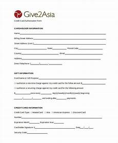 general credit forms free 27 sle authorization forms doc