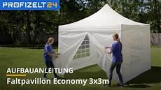 faltzelt faltpavillon partyzelt aufbau 3x3m logiline