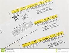 us irs tax form 1040 es editorial image 51606257