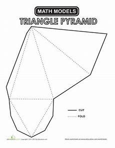 paper folding worksheets grade 5 15678 triangular pyramid homeschool k 3 printable shapes teaching geometry geometry worksheets