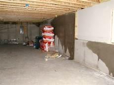 basement walls new construction in winter building