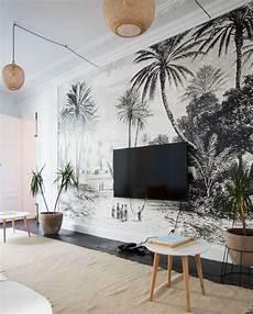 papier peint panoramique design dans l appartement d alix petit la cr 233 atrice d heimstone
