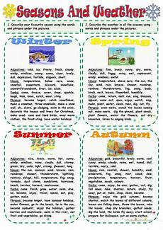 weather worksheets for elementary school 14545 seasons and weather weather vocabulary teaching grammar