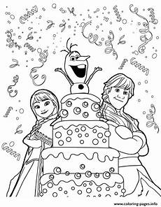 kristoff olaf birthday colouring page