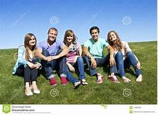 smiling multi racial group of young adults royalty free