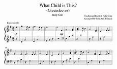 what child is this greensleeves harp solo music by jodi ann
