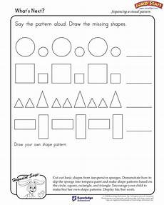 shapes patterns worksheets 1233 what s next learning shapes and patterns jumpstart teaching shapes learning shapes free