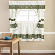 Kitchen Curtains In by Embroidered Berkshire Floral 5 Kitchen Curtain