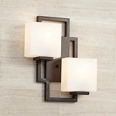 lighting the square bronze 15 1 2 quot high wall sconce 47342 lsplus com