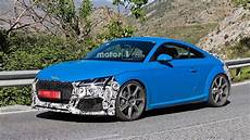 2019 audi tt rs 2019 audi tt rs facelift spied on vacation in southern europe