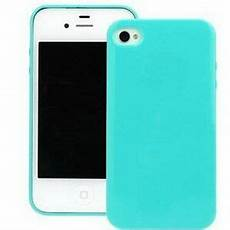new light blue soft silicone case cover skin for apple