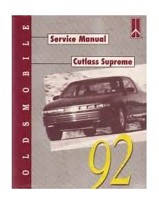 free online auto service manuals 1993 oldsmobile cutlass cruiser auto manual 1992 oldsmobile cutlass supreme factory service manual