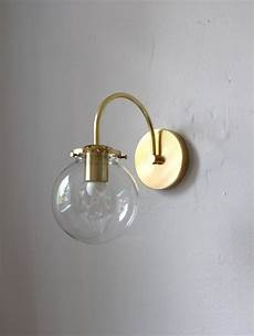 wall sconce light mid century modern brass wall mounted