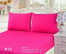 tache cotton solid pink fitted deep pocket bed sheet and pillowcase ebay