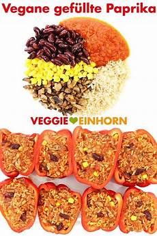 Gefüllte Paprika Vegan - vegane gef 252 llte paprika mit reis und chignons rezept