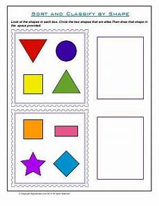 free worksheets sorting and classifying 7741 worksheet sort and classify by shape circle and draw the shape that are shapes worksheets