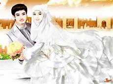 Kumpulan Gambar Kartun Pengantin Islami Kata Kata Bijak