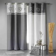 rideaux gris rideau tamisant 140 x h240 cm home gris blanc
