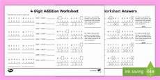 addition worksheets ks2 8918 4 digit number addition worksheet made