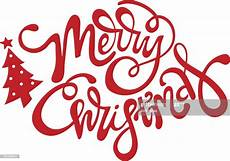 merry christmas script vector merry christmas script with christmas tree high res vector graphic getty images