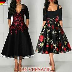 damen kleid rockabilly petticoat sommerkleid retro 50er