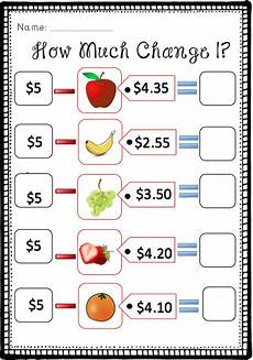 money worksheets change from 5 2100 how much change subtracting from 5 this resource consists of 3 worksheets that