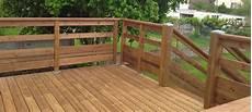 balustrade en bois pour terrasse exterieure