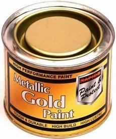 1 180ml metallic gold exterior interior paint tough durable metal etc ebay