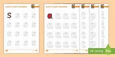 letter formation worksheets year 2 23407 level phase 2 letter formation worksheets sound practice form phonics