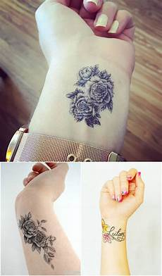 highly cute and sensational wrist tattoo designs top