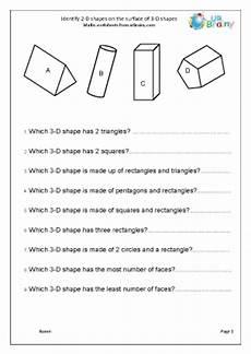 d shapes worksheets 1092 identify 2 d shapes on 3 d shapes