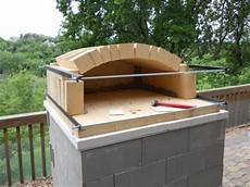 how to build a temporary wood fired brick pizza oven with