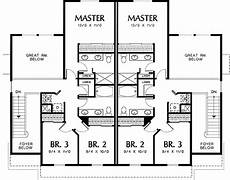two storey duplex house plans two story great room in quiet duplex 69380am 2nd floor