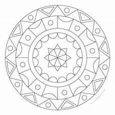 geometric color mandala for pre k kindergarten and