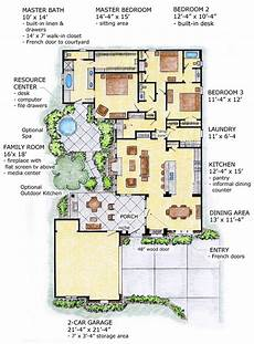 southwest house plans with courtyard first floor plan of florida mediterranean southwest house