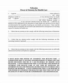 sle medical power of attorney form 8 exles in word pdf