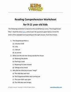 reading comprehension worksheet for 9 11 years old kids