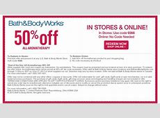 coupons for bath and body works