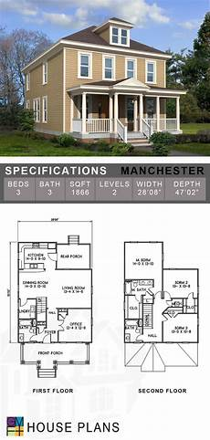 tnd house plans the manchester is a colonial revival style house plan