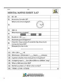 practise mental maths worksheets year 3 7 math mental maths worksheets mental maths tests