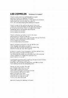 stairway to heaven lyrics worksheets stairway to heaven blank lyrics 2sheets