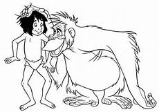 king louie rub mowgli in jungle book coloring pages