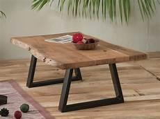 table basse bois massif brut table basse naturel m 233 tal et bois zen meuble house table