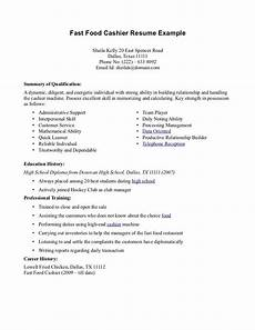 resume skils for fast fod resume for fastfood fast food cashier resume cv resumes and cover letters pinterest
