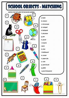 school objects matching worksheet free esl printable worksheets made by teachers