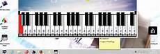 Zoom Sur Le Clavier De Piano Virtuel Pour Pc