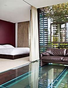 i like the curtain separating the bed from the room idea contemporary house modern