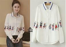 baju perempuan lengan panjang baju kemeja terbaru lengan panjang warna putih ryn fashion